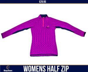 Ladies Warm-Up 1/4 Zip    Cerise S,M,L,XL.